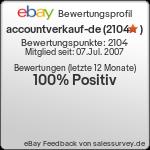 Auktionen und Bewertungen von accountverkauf-de