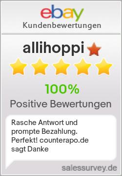 Auktionen und Bewertungen von allihoppi